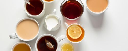 Five types of tea and the health is served in cup