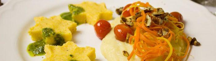 Food combinations and cooking methods, corn polenta