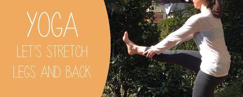 Dehnung der Muskeln der Beine und Rücken
