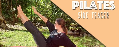 Pilates Seite Teaser, die Übung für die Bauchmuskeln und die Taille