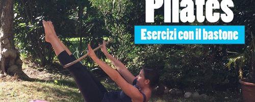 Pilates, esercizi con il bastone