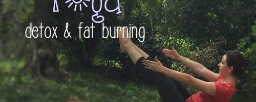 Burn fat with the boat yoga pose