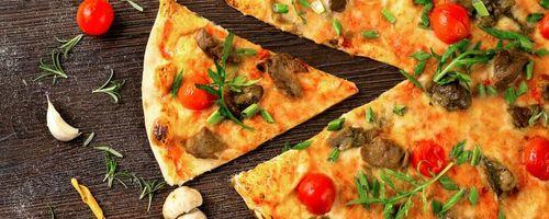 Moschus-Kürbis mini Pizzen
