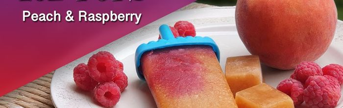Peach and raspberry ice pops, something really irresistible