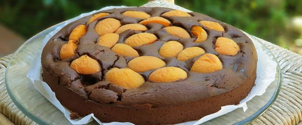 Coconut and apricot brownies