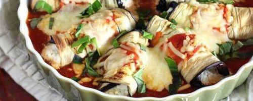 Summer eggplant rolls