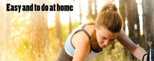Healthy and fit, stretching exercises