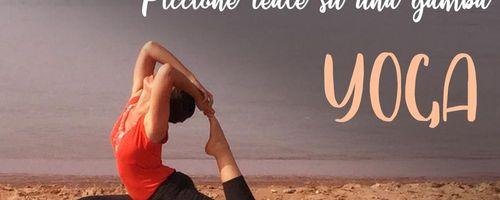 Posizione yoga del piccione reale su una gamba