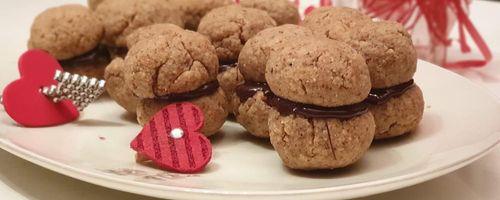 Lady's Küsse, oder italienische Haselnuss-Cookies