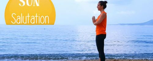 Sun salutation, the yoga sequence easy to do and beneficial for all