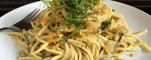 Christmas Eve pasta with sardines