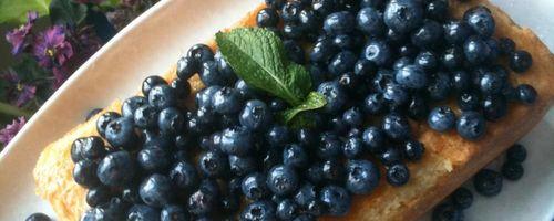 Whole grain blueberry fruit cake