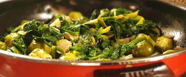 Gemüse-Bigpfanne mit Senfsauce