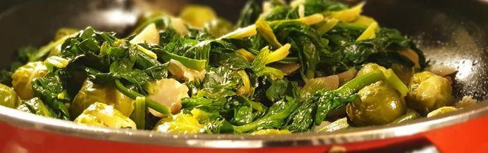 Vegetable big pan with mustard sauce