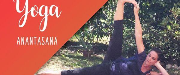 Anantasana, the yoga pose of the divinity