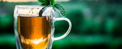 Mint tea, a drink that tastes of exotic lands