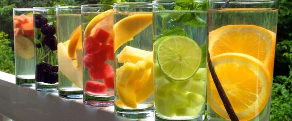 Healthy delicious flavored water
