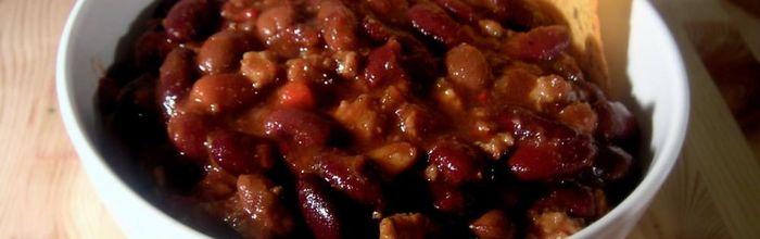 Chili con fagioli e riso basmati