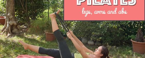 Pilates with the elastic band, the workout for legs, arms and abs