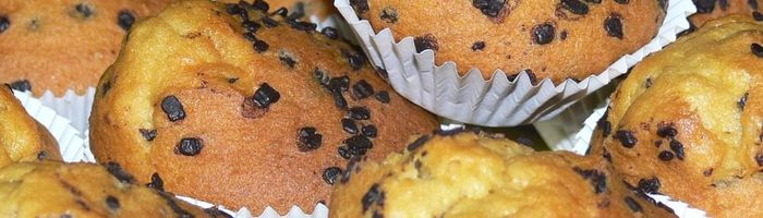 Sweet muffins with chocolate chips
