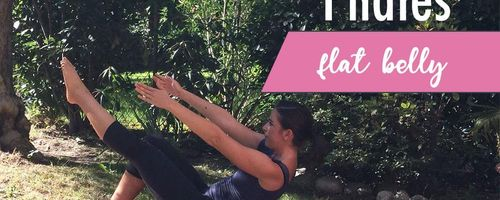 One leg teaser, pilates to get a flat belly