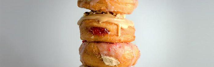 Vanilla cream filled mini doughnuts