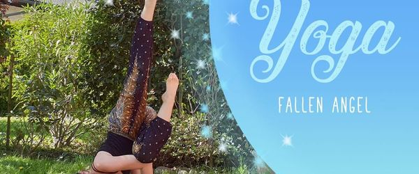 Yoga, the sequence to do the fallen angel