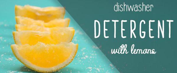 DIY natürliches Spülmittel mit Zitronen