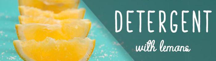 DIY natural dishwasher detergent with lemons
