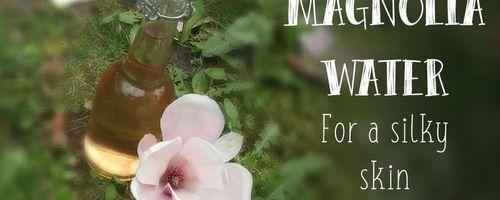 Magnolie Wasser für eine seidige Haut