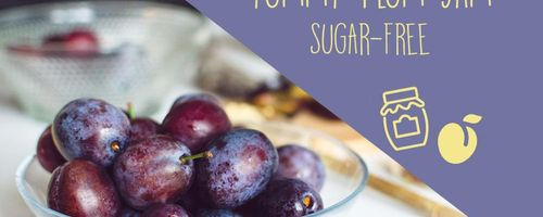 Sugar-free plum jam, easy and tasty!