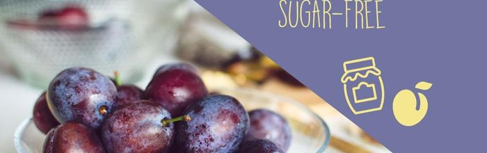 Sugar-free plum jam, easy and tasty!