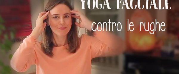 Yoga facciale contro rughe, zampe di gallina e pelle senza tono