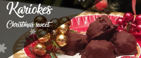 Kariokes, die Schokolade und Walnuss Weihnachtsbonbons