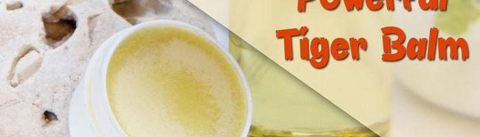Tiger balm, anti inflammatory and analgesic