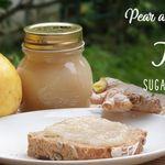 Pear and ginger jam, sugar free, DIY remedies