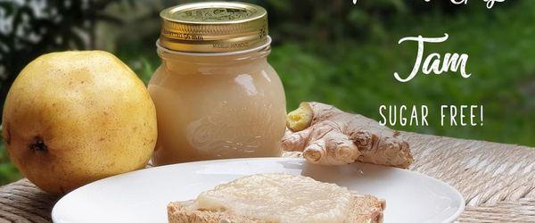 Pear and ginger jam, sugar free