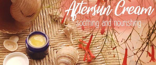 Hausgemachte Aftersun Creme mit Kokosöl und Aloe Vera, erfrischend, nährend und beruhigend