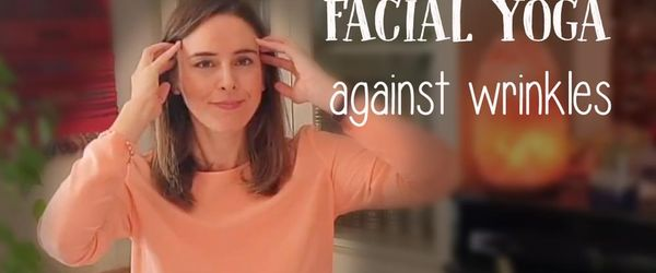 Facial yoga against wrinkles, crow's feet and sagging cheeks