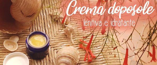 Crema doposole fai da te con olio di cocco e aloe vera, rinfresca, nutre e lenisce